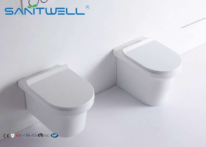 Wall Mounted Concealed Cistern Ceramic Toilet Modern Water Saver Flush Types