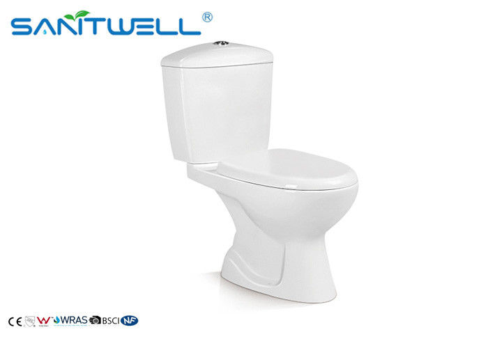 Sanitary Ware Dual Flush Ceramic Toilet White Bathroom Washdown With Slow Close Seat Cover