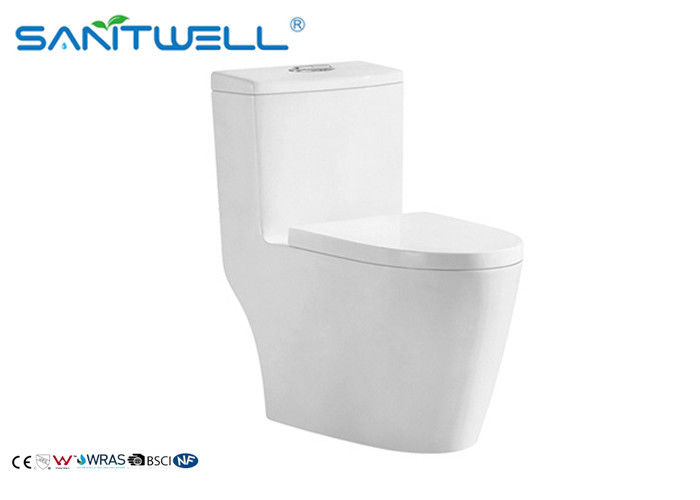 Economic dual flush WC  flush rimless single piece toilet ISO9001 2000 cetification