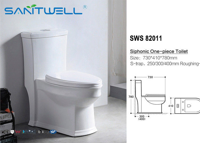 Shower P trap Toilet Siphonic Pedestal WC 	 730*410*780 mm Size