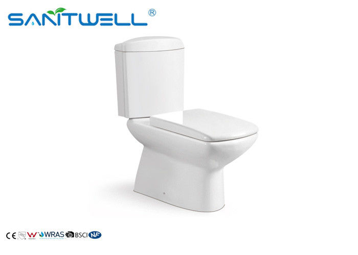 Construction / Real Ceramic Washdown Two Piece Toilet For Estate Building Project