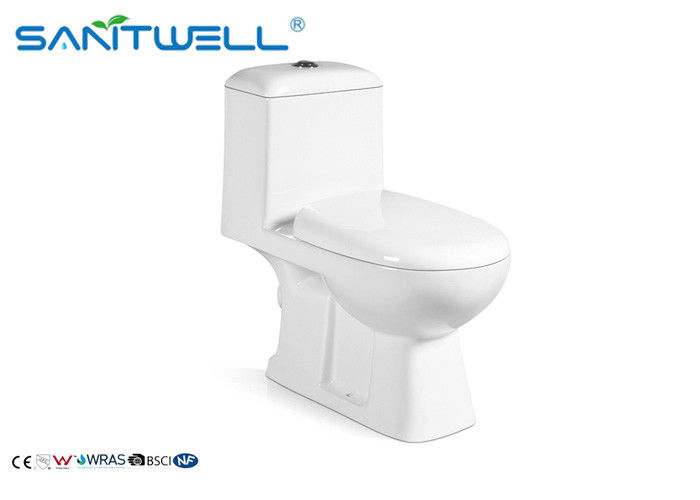 Siphonic Dual Flush Ceramic Toilet 690 * 370 * 665 Mm Size Customized Color SWC2411
