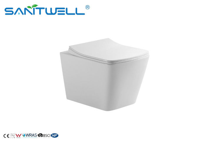 Washdown Rimless Toilet With UF Seat Cover SWM9310 Commercial Wall Hung Toilet