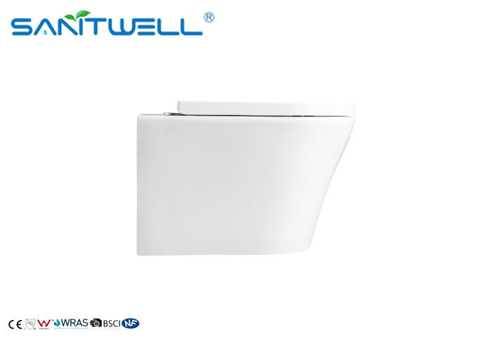Bathroom Concealed Wall Mounted WC Sanitary Ware Rimless Wall Hung Toilet