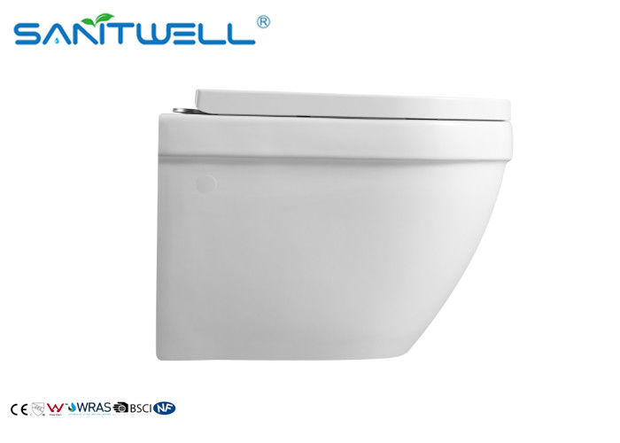 Anti Leakage Wall Flush Toilet / Wall Hanging Toilet With Water Saving Water Tank