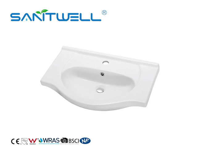 Standard Size Counter Top Wash Basin White Color With Modern Design CE