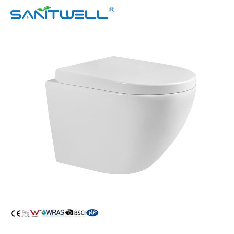 Water Saving Gravity Flushing Bathroom Wall Hung Toilet