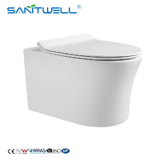 smooth Collision Type Flushing Ceramic Wall Hung Toilet